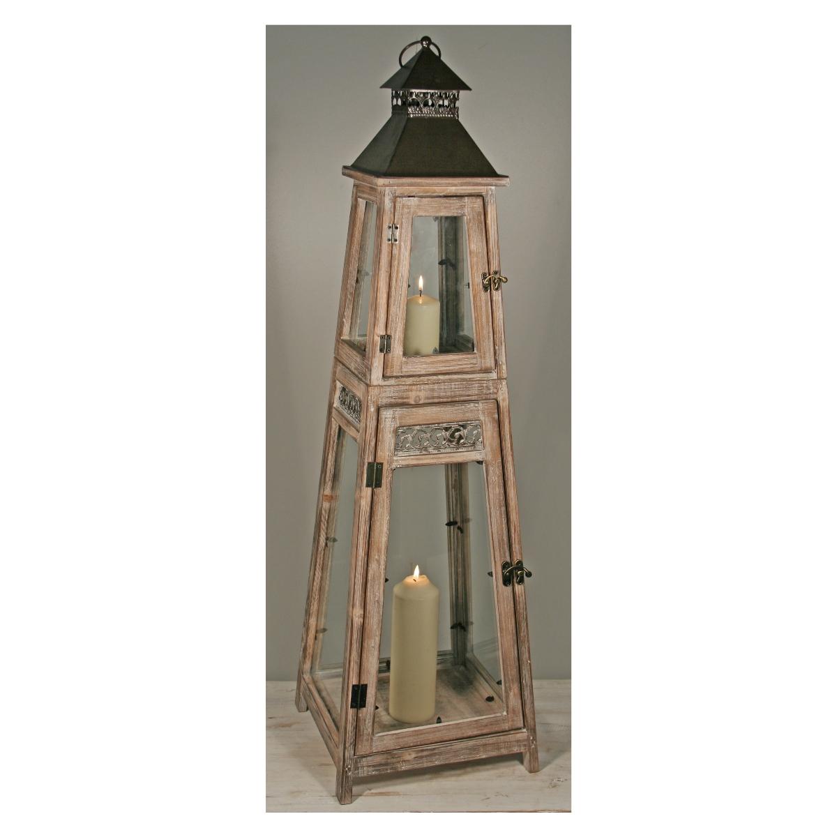 laterne aus holz in obeliskform dunkelbraun haushalt und putzen. Black Bedroom Furniture Sets. Home Design Ideas