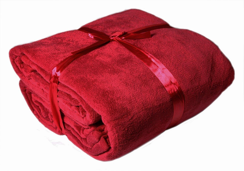 mikrofaser kuscheldecke xxl rot haushalt und putzen. Black Bedroom Furniture Sets. Home Design Ideas