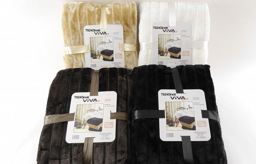 nerzoptik decke 150 x 200 cm beige haushalt und putzen. Black Bedroom Furniture Sets. Home Design Ideas